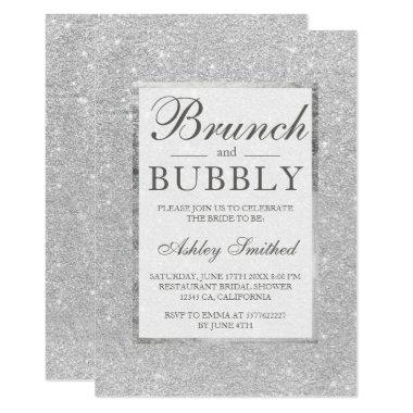 Faux silver glitter brunch bubbly