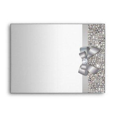 Faux Silver Sequins with Return Address Envelope
