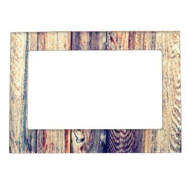 Faux Wooden Fence Magnetic Picture Frame