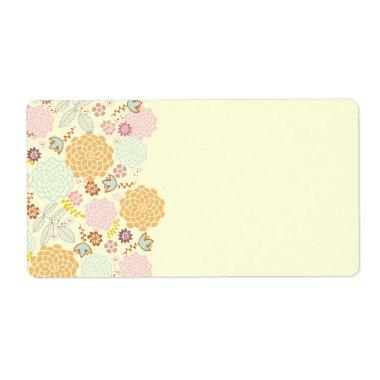 Feminine Fancy Modern Floral Label