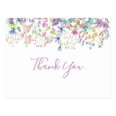 Field Floral Bridal Shower Thank You Invitations