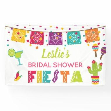 Fiesta Bridal Shower Banner - White Background