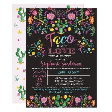 Fiesta Bridal Shower Invitations Taco bout love