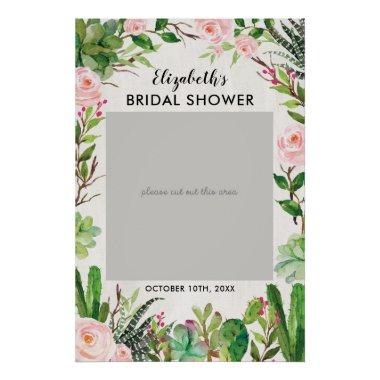 Fiesta Cactus Bridal Shower Photo Booth Frame Poster