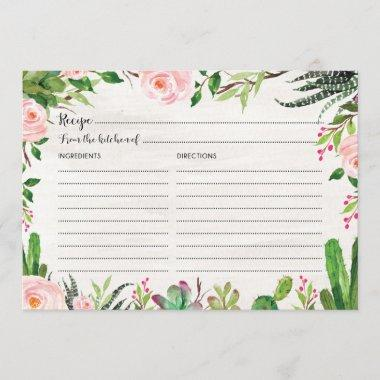 7edbaa444d12c Midsummer Floral Bridal Shower Recipe 3 Ring Binder – Unique Bridal ...