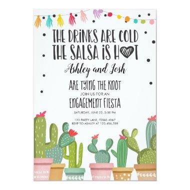 Fiesta Engagement Invitations Bridal Shower Couples