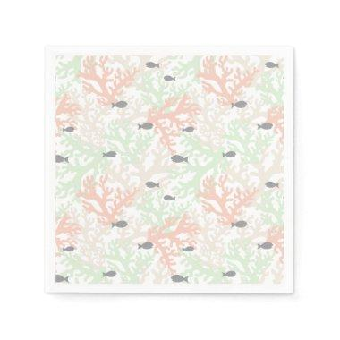Fish and Coral Pastel Paper Napkins