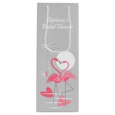 Flamingo Love  gift bag wine