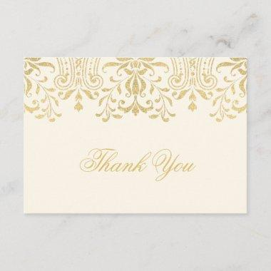 Flat Thank You Note  | Gold Vintage Glamour
