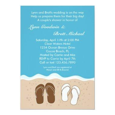 Flip Flops Couple's Bridal Shower Invitations