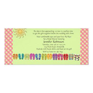 Flip Flops in a Row Invitations