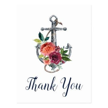 Floral Anchor | Autumn Thank You PostInvitations