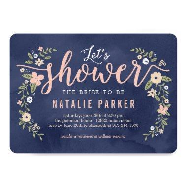 Floral Beauty Editable Color  Invite
