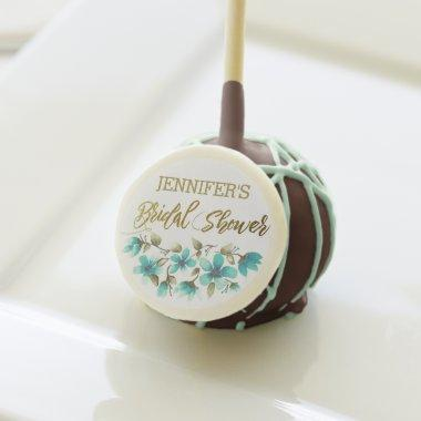 Floral Blue Rose with Name  Cake Pops