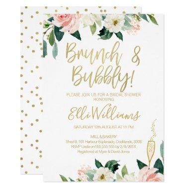 Floral Bridal & Bubbly Bridal Shower Invitations