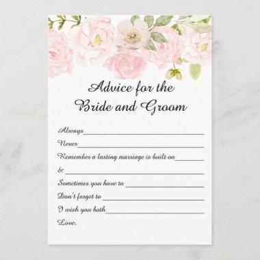 Floral Bridal Shower Advice Cards