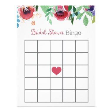 Floral  Bingo Game Letterhead
