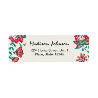 Floral |  | Return Address Labels