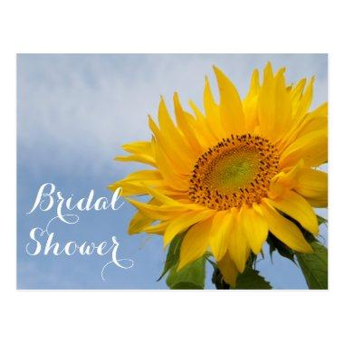 Floral  Sunflowers Blue Yellow Flower Post