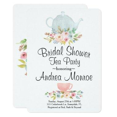 Floral  Tea Party Custom