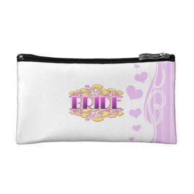 floral bride wedding shower bridal party fun makeup bag