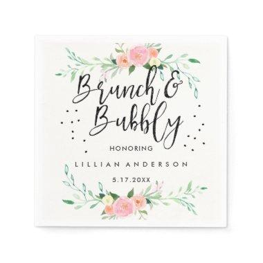 Floral Brunch and Bubbly  Napkin