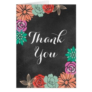 Floral Chalkboard  Thank you