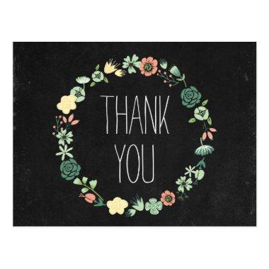 Floral Chalkboard Thank You Post