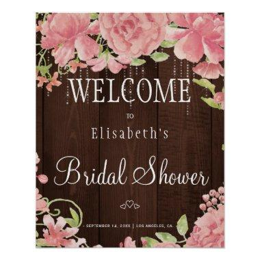 Floral chic lights  welcome sign