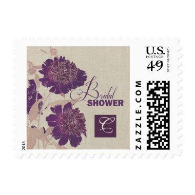 Floral Design Bridal Shower Postage Stamps