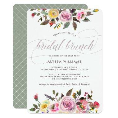Floral Fantasy | Modern Watercolor Bridal Brunch