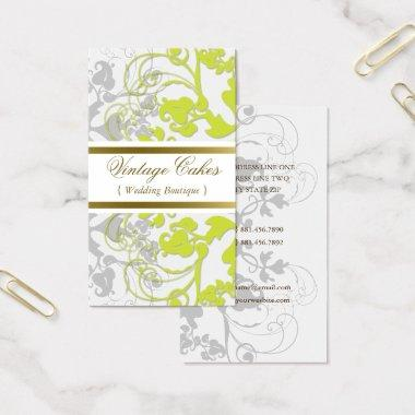 Floral Flourish Lime Green Custom Profile