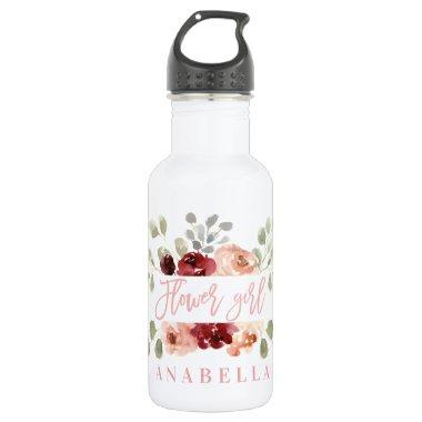 floral flower bachelorette  tote stainless steel water bottle