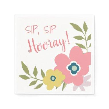 Floral Garden Bridal Shower or Baby Shower Napkin