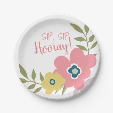 Floral Garden Bridal Shower or Baby Shower Paper Plate