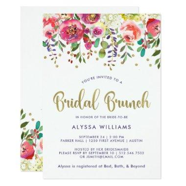 Floral Gold | Modern Watercolor Bridal Brunch