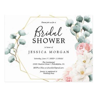 Floral Greenery Bridal Shower Invitation PostInvitations