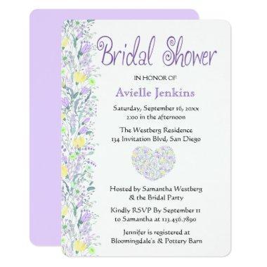 Floral Purple  Lavender Flowers