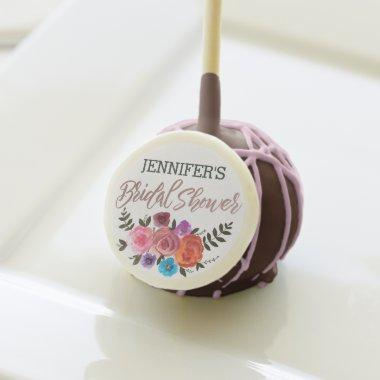 Floral Rose with Name  Cake Pops