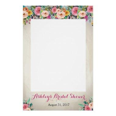 Floral shower Photo Prob Poster