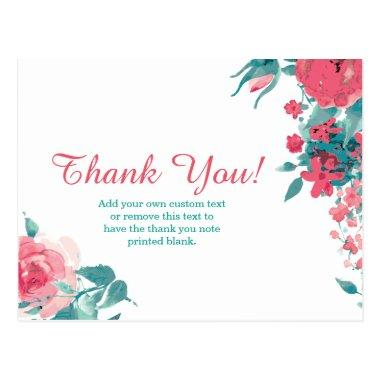 Floral Thank You Invitations