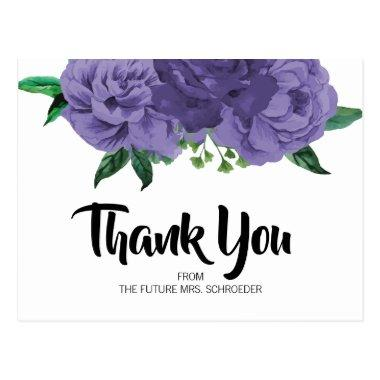 Floral Violet Purple  Thank You