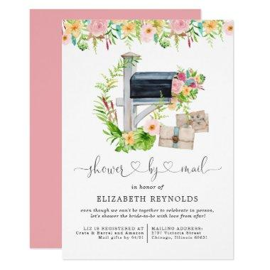 Floral Virtual Bridal Shower by Mail Invitations