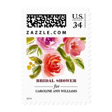 Floral Watercolor  Postage Stamps