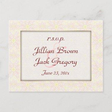 Floraline Mauve Wedding RSVP post