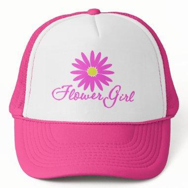 Flower Girl Daisy/ Pink Trucker Hat
