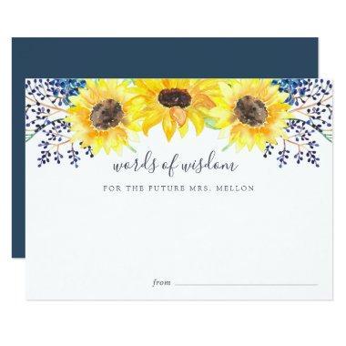 Flowerfields Bridal Shower Advice Card