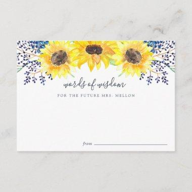 Flowerfields Bridal Shower Advice Card