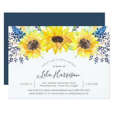Flowerfields Bridal Shower Invitations