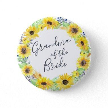 Flowerfields Grandmother of the Bride Button